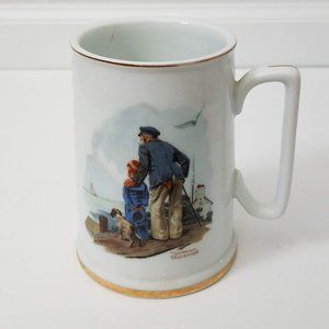 Norman Rockwell Looking Out To Sea Porcelain Mug